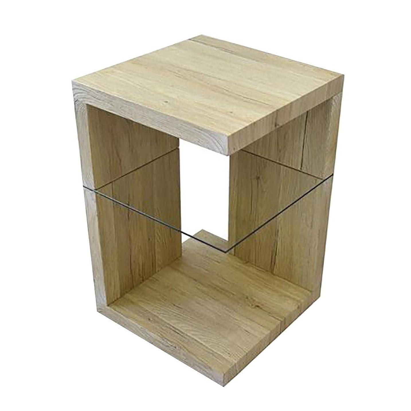 パースブラックボロウ描写腐敗SAND サイドテーブル 木目調 テーブル ナイトテーブル ベッドテーブル ソファーテーブル おしゃれ アンティーク モダン シンプル (ホワイト)