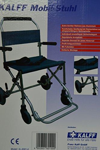 Kalff Mobilstuhl SL8581A Leichtgewicht faltbar Rollstuhl Reiserollstuhl + Tasche, Transportstuhl