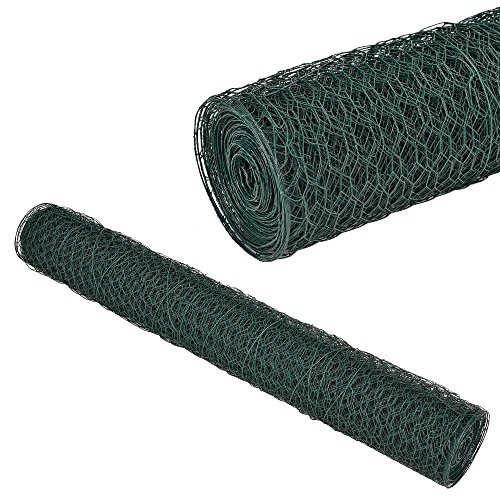 Pro-Tec Maschendrahtzaun Zaun 1m x 25m Sechseck-Geflecht Hasen Draht Gitter Drahtstärke ca. 0,9 mm Maschenweite: 25 mm