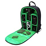 G-raphy Camera Bag Camera Backpack with Rain Cover / Tripod Belt for DSLR SLR Cameras( Nikon,Canon,Sony,Fuji,Panasonic etc), Lenses, Tripod and Accessories (Green, Large)