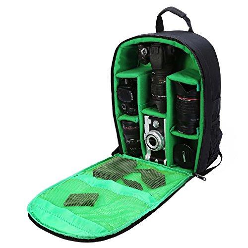 Bolso para cámara Mochila para cámara Impermeable 16'X 13' X 5'con Cubierta para Lluvia para cámaras DSLR, Lentes, trípode y Accesorios