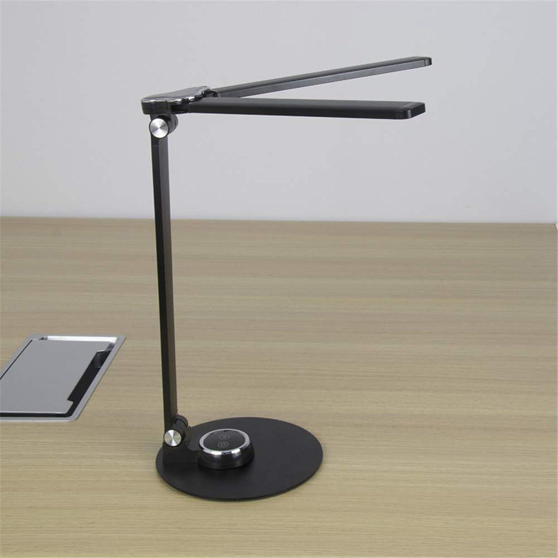GUIHE LED Tischlampe Kreative Smart Tischlampe USB Lade Tischlampe Falten Rotierenden Lesen Lernen Tischlampe,schwarz