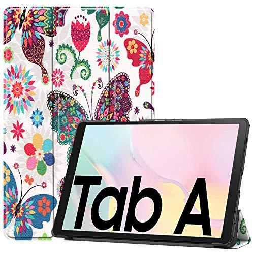 HoYiXi Funda para Samsung Galaxy Tab A7 10.4 Pulgadas 2020 Estuche de Tableta Funda de Cuero Delgada con Función de Soporte Funda Cover para Samsung Galaxy Tab A7 2020 T500/T505 - Mariposa