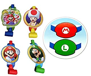 Super Mario Bros Party Blowouts and Paper Hats for 8 Guests (16 Pieces) by Party Supplies (B01672S95W) | Amazon price tracker / tracking, Amazon price history charts, Amazon price watches, Amazon price drop alerts