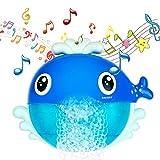MOOKLIN ROAM Juguetes de Baño Ballena, Juguetes para el Agua, Juguetes de Burbujas de Bañera Portatil Juguetes Reflejo con 12 Música para Bebés Ducha de Niños Niñas Baño de Burbujas