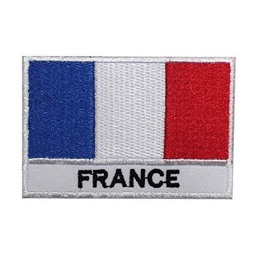 Aufnäher zum Aufbügeln/Aufbügeln/Aufnähen, Motiv Nationalflagge Frankreich