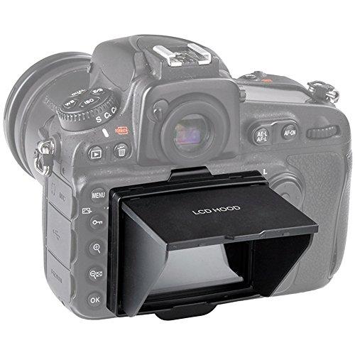 STSEETOP Camera LCD Sun Shade Sun Hood Camera LCD Viewfinder Professional Optical Sunshade with Screen Protector for Nikon D800 D800E D810 D810A