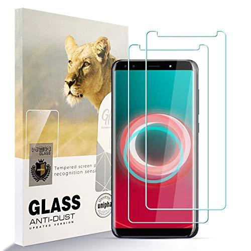 AYSOW Protector de Pantalla para Ulefone Power 3S, 9H Dureza Película de Vidrio Templado HD Antihuellas sin Burbujas Fácil de Instalar, Protector de Vidrio para Ulefone Power 3S [2 Pcs]