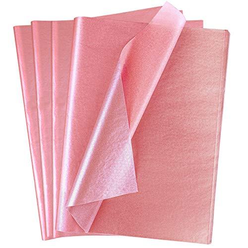 Ruisita 120 Blatt Rotgold Seidenpapier Bulk Metallic Geschenkpapier für Weihnachten, Hochzeit, Geburtstag, Party, Duschen, Basteln, 50,8 x 35,6 cm