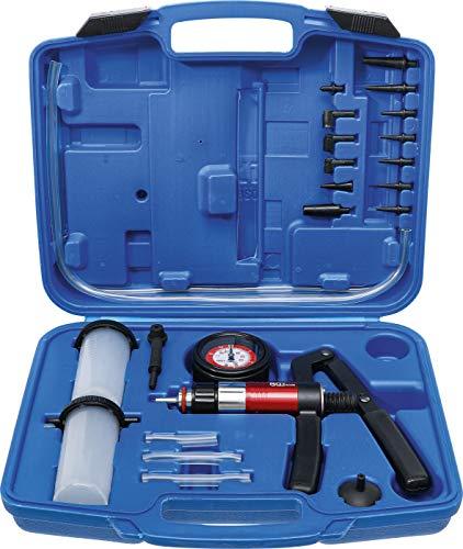 BGS 8038 | Vakuum-Druckpumpen-Satz | Vakuumpumpe | Bremsenentlüfter | Bremsentlüftungsgerät | Vakkumtester | im Koffer