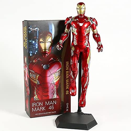 YZGLA Figura de acción Juguetes de Hierro Hombre MK85 1/6 Estatua de Escala CLORURO DE POLIVINILO Figura Super Hero Model Toy muñeca...