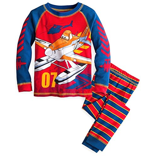 Disney Store Planes Fire & Rescue Boy 2 PC Long Sleeve Tight Fit Pajama Set Size 6