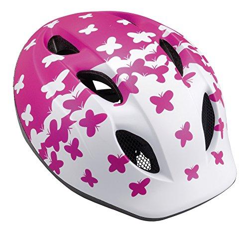 MET Kinder Fahrradhelm Buddy, Pink Butterflies, 46-53
