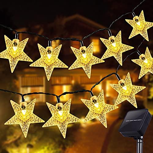 LIADD - Cadena de luces solares con 80 ledes, para exteriores, resistente al agua, 8 modos, para jardín, árboles, dormitorio, habitación de los niños, bodas, fiestas