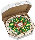 Rainbow Socks - Pizza MIX Caprichosa Vege Pepperoni Mujer Hombre - 4 pares de Calcetines - Tamaño 36-40