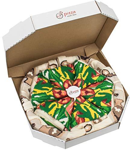 Rainbow Socks - Damen Herren Pizza Socken Box Italienische - 4 Paar - Größen 41-46
