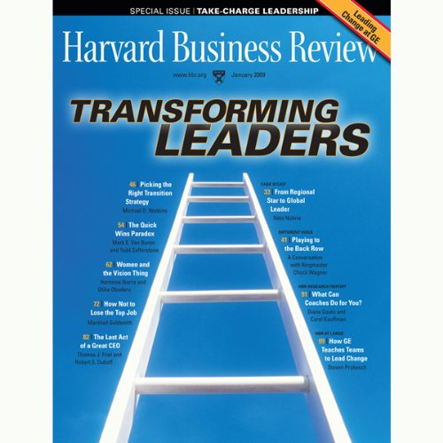 Harvard Business Review, January 2009 audiobook cover art