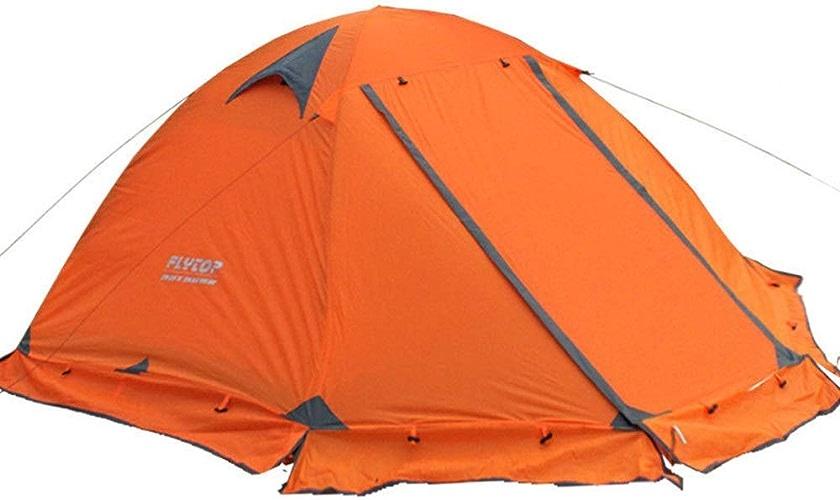 HoEOQeT Tente de Camping imperméable légère avec Deux Portes, pour 2 Personnes