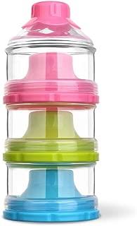 HaloVa Baby Milk Powder Formula Dispenser, Infant Toddler Children Non-Spill Twist-Lock Stackable Snacks Storage Container, BPA Free, 3 Feeds