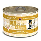 Weruva Cats in the Kitchen, Goldie Lox with Chicken & Salmon Au Jus Cat Food, 6oz Can (Pack of 24)