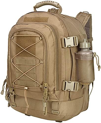 Generic Groß New SAND 2021 Militär Rucksack Taktischer Rucksack wasserdicht Molle System Wanderrucksack rucksack herren 40-64L für Survival Camping Erwachsenenrucksack 1051
