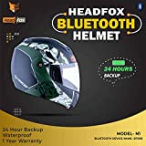 Headfox CX Smart BLUETOOTH N1 Motorbike HELMET(DX Camouflage BLACK & GREEN)