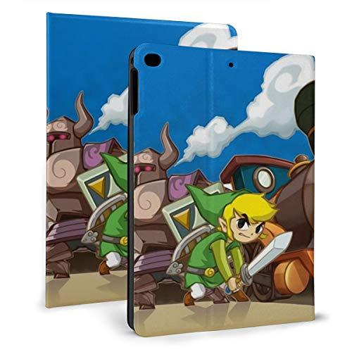 The Legend Of Zelda Spirit Tracks - Funda de piel sintética con función atril para iPad de 9,7 pulgadas, sexta y 5ª