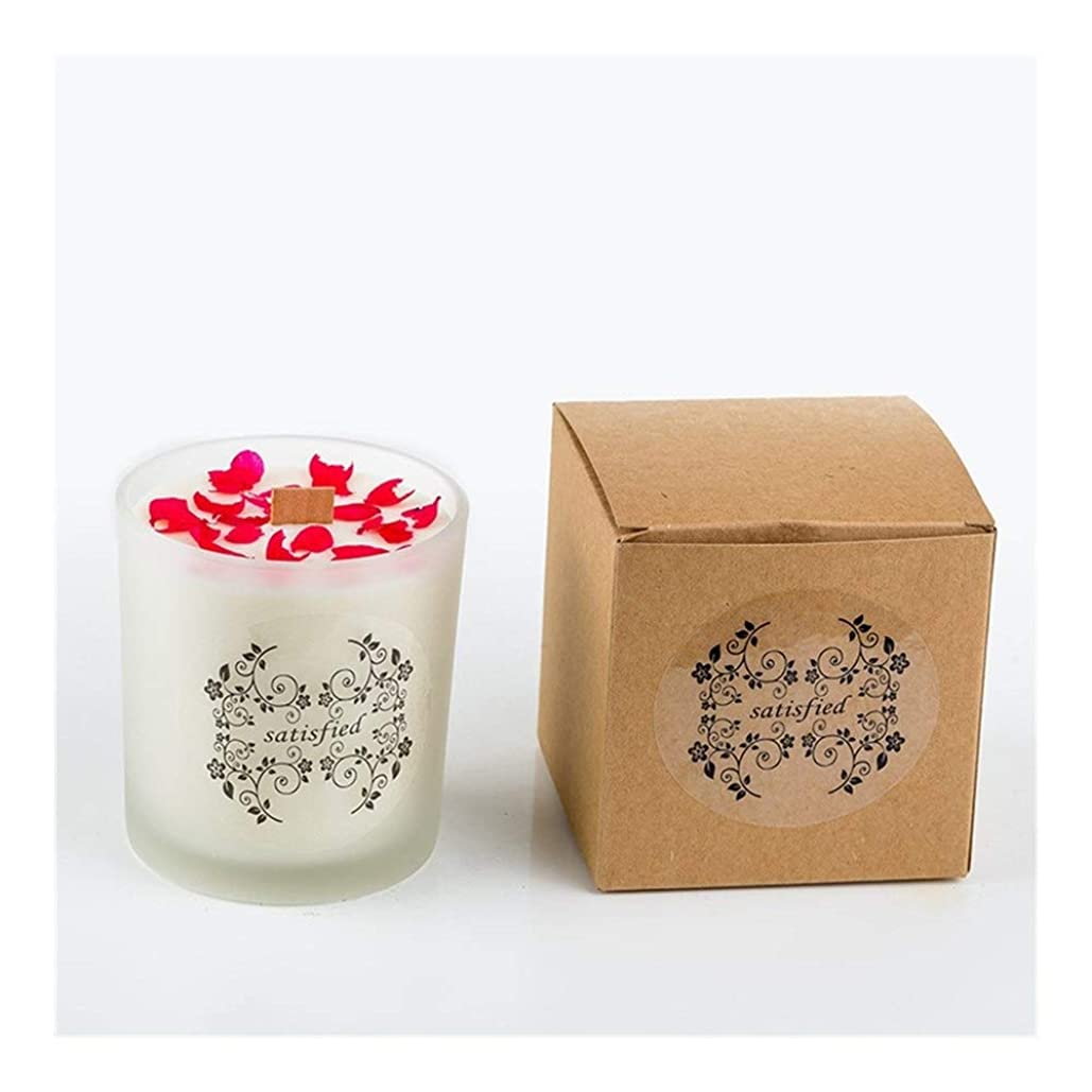 バスト魅了するたくさんZtian ロマンチックな香りのキャンドルエッセンシャルオイル大豆ワックスガラスアロマセラピーロマンチックな誕生日ギフトの提案無煙の香り (色 : Xiang Xuelan)