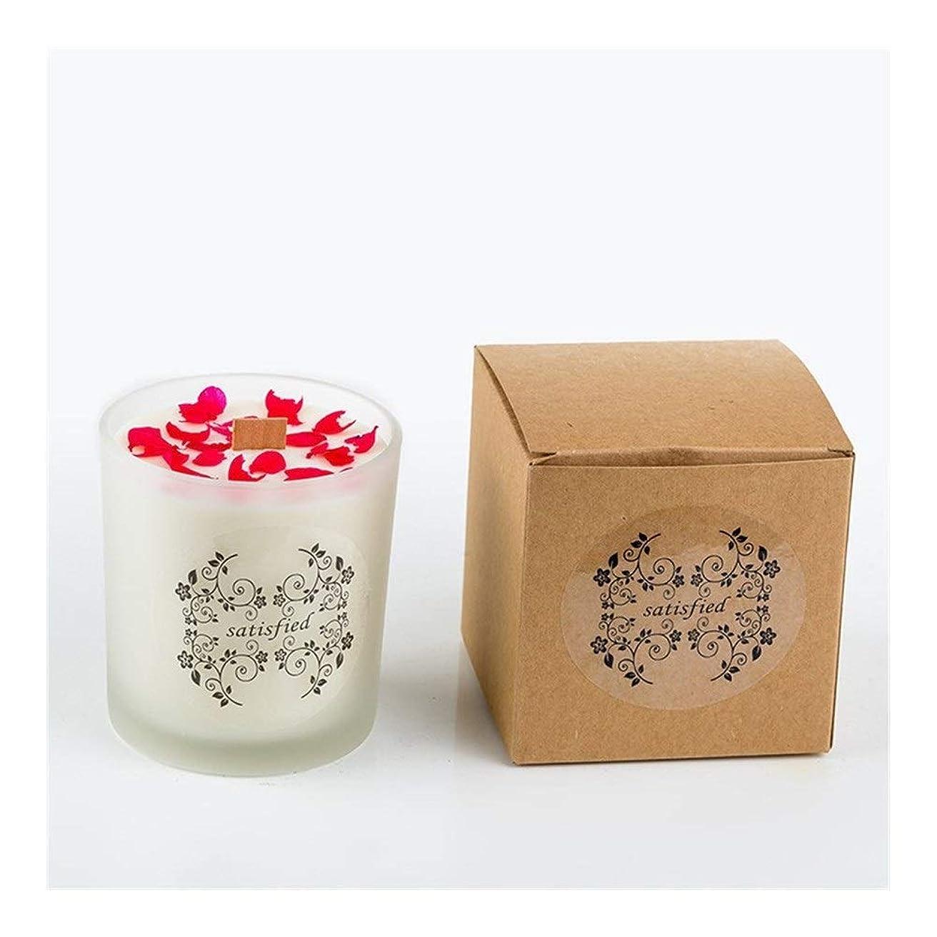 有罪強制的フェードZtian ロマンチックな香りのキャンドルエッセンシャルオイル大豆ワックスガラスアロマセラピーロマンチックな誕生日ギフトの提案無煙の香り (色 : Xiang Xuelan)