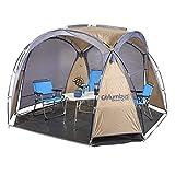COLUMBUS Carpa Shadow Familiar con Protección Solar UV 30. Fácil Acampadas, Excursiones, Picnic o la Playa. 8,5 Metros Cuadrados. Dimensiones 300 x 300 x 200/180 cm.