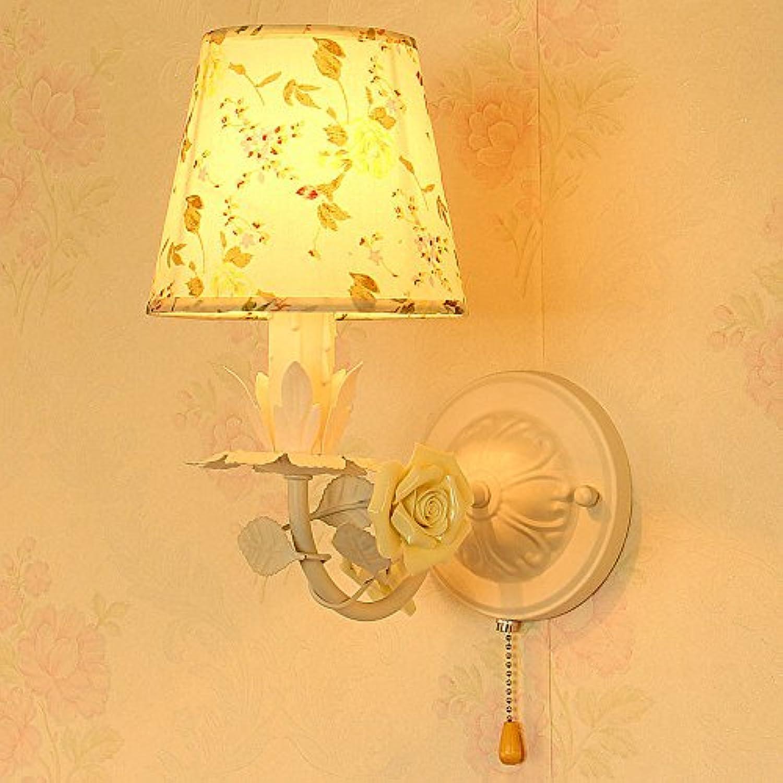 StiefelU LED Wandleuchte nach oben und unten Wandleuchten E14 Kinderzimmer Wandleuchte grün Tuch Blaume Mdchen Schlafzimmer Wand lampe Nachttischlampe 16  30 cm, 4-warmes Licht