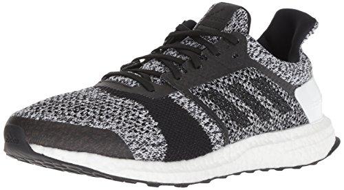 adidas Men's Ultraboost ST Running Shoe, White/Black/Silver Metallic, 9 M US