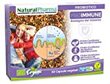 Natural Pharma Labs - Integratore Probiotico Biologico ProImmune. Difesa del Sistema Immunitario. Capsule Naturali per la Flora Intestinale con Folati, senza Glutine, senza Lattosio, Vegan