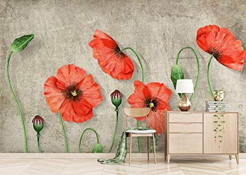 Papel Pintado Pared Moderno 3D Flores Marca Huaianbang