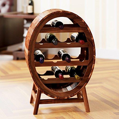 Deuba Weinregal aus Holz für 12 Flaschen Weinfass Design Höhe 90cm - Weinständer Flaschenregal...