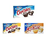 Hostess Cupcakes Variety Pack (Chocolate, Orange, Golden) - 3 Boxes (1 of Each Flavor)