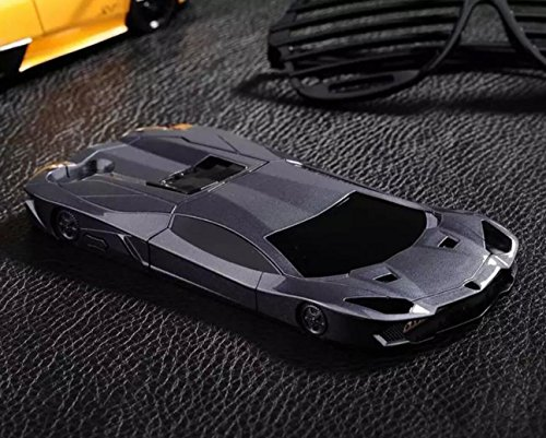 OMORRO iPhone 6 Plus/6S Plus Case, Fashion Cool New 3D Luxury Fast Roadster Sports Race Car Shaped Case with Kickstand Holder Hard Protective Cover for Apple iPhone 6 Plus/6S Plus Black