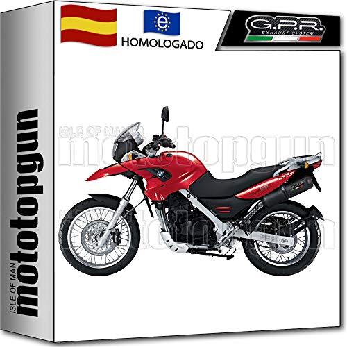 GPR BMW.64.GHI TUBO DE ESCAPE HOMOLOGADO GHISA COMPATIBLE CON BMW F 650 GS 2004 04 2005 05 2006 06 2007 07