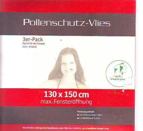 Hecht Profi Pollenschutz / Insektenschutz /Mückenschutz -Vlies (3 Stück)-ohne chemische Wirkstoffe