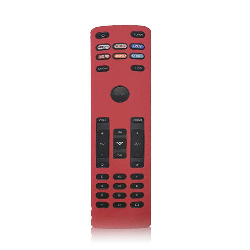 Smart TV Remote Case SIKAI Funda protectora de silicona a prueba de golpes para el nuevo control remoto inteligente VIZIO XRT136 Control remoto Control a prueba de polvo A prueba de polvoAnti-pérdida: