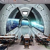 現代の3D宇宙宇宙カプセル壁画家の装飾の壁紙アートリビングルームテレビの背景の壁紙-350x256cm