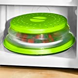 My Home Cubierta plegable para microondas, color verde