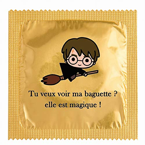 biwi-shop Préservatif Try Potter, tu Veux Voir ma Baguette Magique