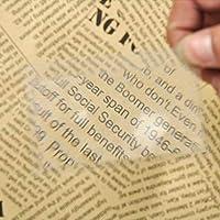 ツール1PCミニクレジットカードサイズ拡大鏡読書拡大鏡レンズポケット拡大鏡ポータブル透明拡大鏡拡大鏡