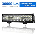 12 Inch LED Light Bar Spot Flood Combo Beam Liteway 30000 LM Triple Row Light...