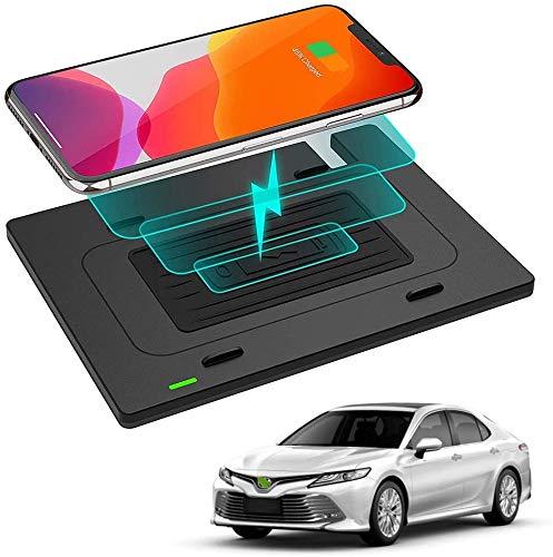 WY-CAR Cargador Inalámbrico Automóvil para Toyota Camry 2018 2019 2020, 10W Soporte Teléfono de Carga Rápida, Cargador Inalámbrico Rápido para iPhone Samsung