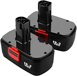 Munikind Upgraded to 3600mAh Replace for Craftsman 19.2 Volt Battery C3 Ni-Mh 1323903 130279005 11375 315.115410 315.11485 315.114852 Cordless Drill Batteries 2 Pack