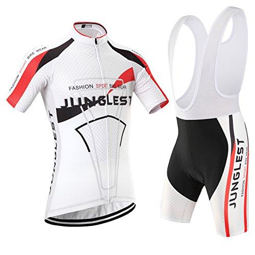 junglest (Traje(Tirante Blancas) tamaño:M) Maillot Ropa Ciclismo 2016 Jerseys Rompevientos Corta Moda...