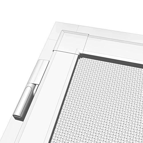 WIP Fliegengitter-Set: 1 Alu-Insektenschutztür 120x240cm + 1 Klemmzarge 125x245cm, weiß