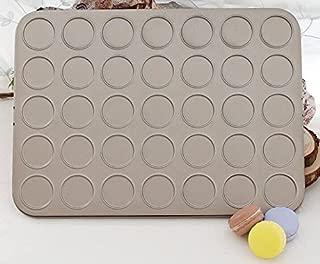 Golden Carbon Steel Macaron Kit Baking Mold Set 35-Capacity